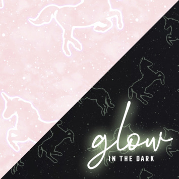 Papierbehang Unicorn roze Glow In The Dark (107645)
