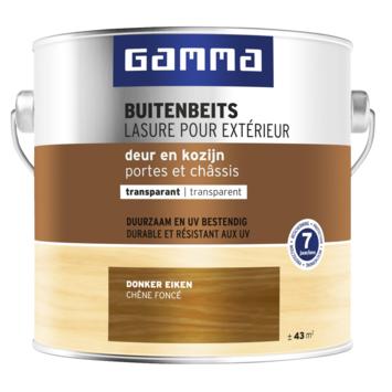 GAMMA buitenbeits deur & kozijn transparant donker eiken 2,5 liter