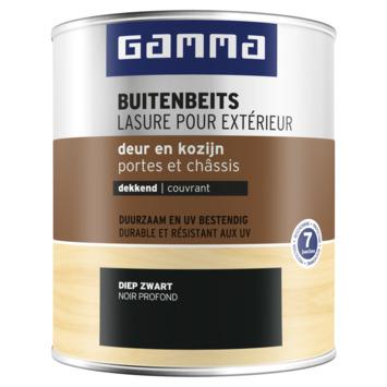 GAMMA buitenbeits deur & kozijn dekkend RAL 9005 diep zwart 750 ml