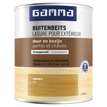 GAMMA buitenbeits deur & kozijn transparant grenen 750 ml