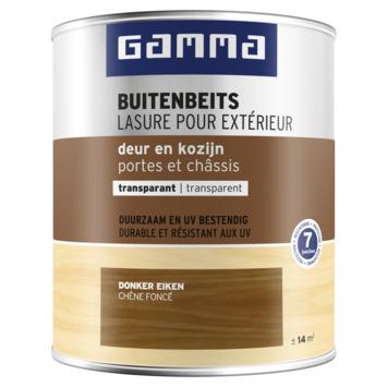 GAMMA buitenbeits deur & kozijn transparant donker eiken 750 ml