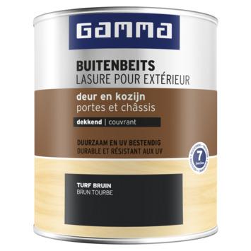 GAMMA buitenbeits deur & kozijn dekkend turf bruin 750 ml