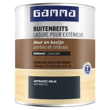 GAMMA buitenbeits deur & kozijn dekkend RAL 7016 antraciet grijs 750 ml