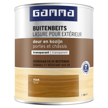 GAMMA buitenbeits deur & kozijn transparant teak 750 ml