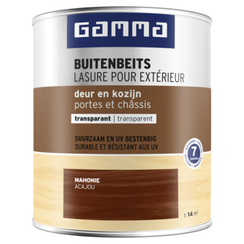 GAMMA buitenbeits deur & kozijn transparant mahonie 750 ml