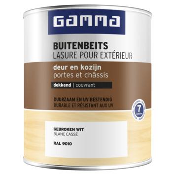 GAMMA buitenbeits deur & kozijn dekkend  RAL 9010 gebroken wit 750 ml