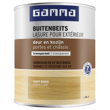 GAMMA buitenbeits deur & kozijn transparant licht eiken 750 ml