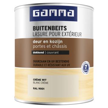 GAMMA buitenbeits deur & kozijn dekkend RAL 9001 crème wit 750 ml