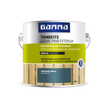 GAMMA tuinbeits schutting & tuinhout dekkend RAL 7016 antraciet grijs 2,5 liter