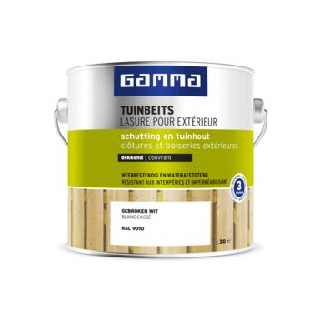 GAMMA tuinbeits schutting & tuinhout dekkend RAL 9010 gebroken wit 2,5 liter