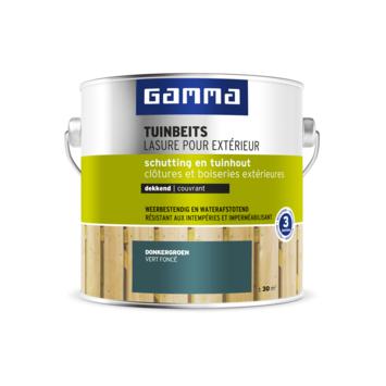 GAMMA tuinbeits schutting & tuinhout dekkend donkergroen 2,5 liter