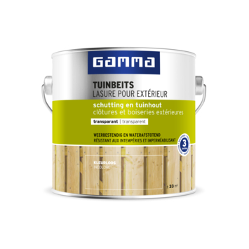 GAMMA tuinbeits schutting & tuinhout transparant kleurloos 2,5 liter