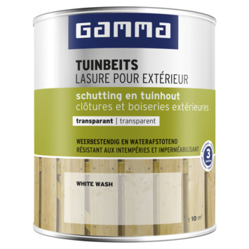 GAMMA tuinbeits schutting & tuinhout transparant 750 ml white wash