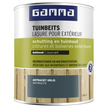 GAMMA tuinbeits schutting & tuinhout dekkend RAL 7016 antraciet grijs 750 ml