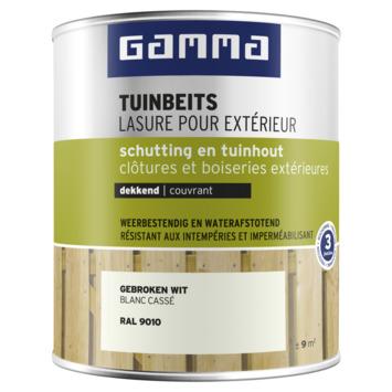 GAMMA tuinbeits schutting & tuinhout dekkend RAL 9010 gebroken wit 750 ml
