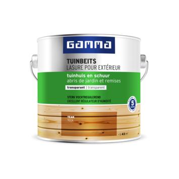 GAMMA tuinbeits tuinhuis & schuur transparant teak 2,5 liter