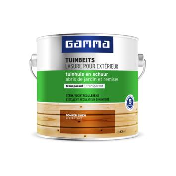GAMMA tuinbeits tuinhuis & schuur transparant donker eiken 2,5 liter