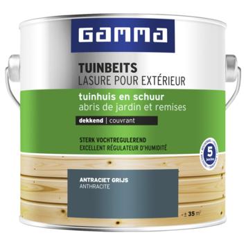 GAMMA tuinbeits tuinhuis & schuur dekkend RAL 7016 antraciet grijs 2,5 liter