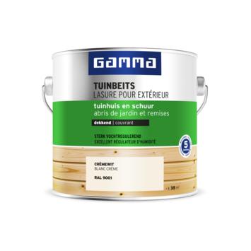GAMMA tuinbeits tuinhuis & schuur dekkend RAL 9001 crème wit 2,5 liter