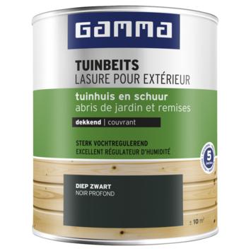 GAMMA tuinbeits tuinhuis & schuur dekkend RAL 9005 diep zwart 750 ml