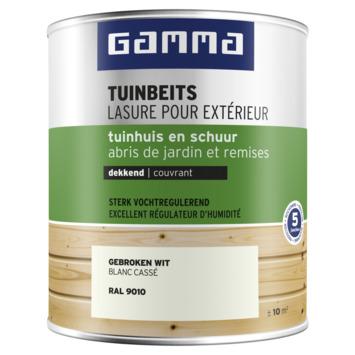 GAMMA tuinbeits tuinhuis & schuur dekkend RAL 9010 gebroken wit 750 ml
