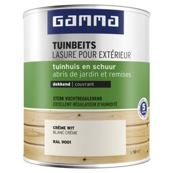 GAMMA tuinbeits tuinhuis & schuur dekkend RAL 9001 crème wit 750 ml