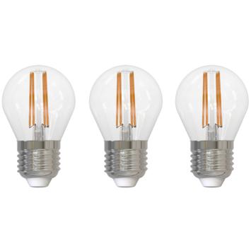 Handson LED filament peerlamp E27 4W 470LM 3-pack