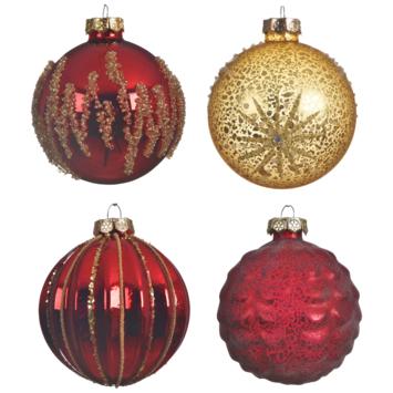 Kerstbal glas deco glas mat assorti display