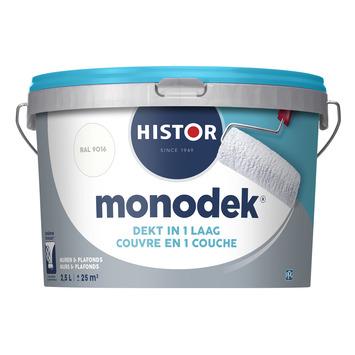 Histor Monodek latex RAL 9016 verkeerswit 2,5 liter