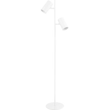 Vloerlamp Stefan E27 wit