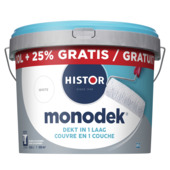 Histor Monodek latex wit 10 liter + 25%