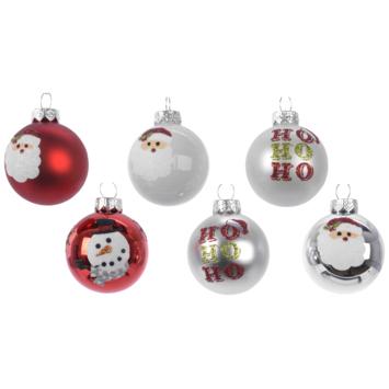 Kerstbal glas 3ass 6 assorti display