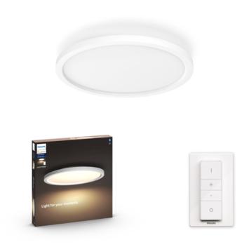 Philips Hue Aurelle panel light 1x24.5W wit rond incl. switch en bluetooth