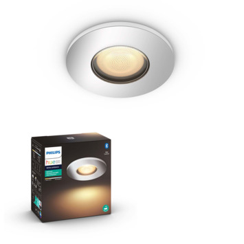 Philips Hue Adore 1-lichts badkamer inbouwspot 1x5W chroom/wit excl. switch incl. bluetooth