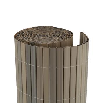 Balkonscherm pvc lichtgrijs 90X300 cm