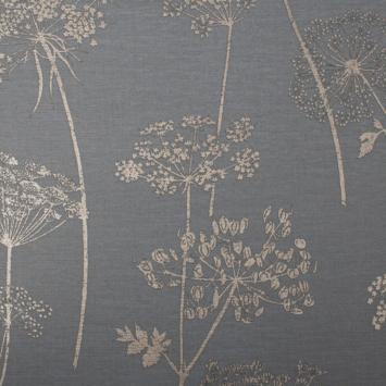 Vliesbehang 108608 Wild flower charcoal
