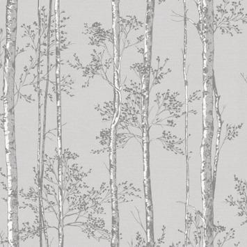 Vliesbehang Branches grijs (106574)
