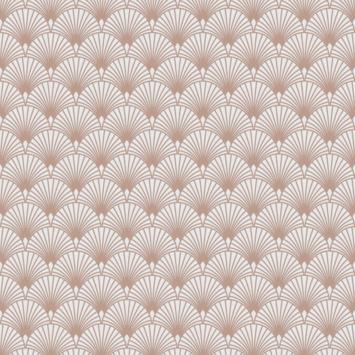Vliesbehang Ecailles Gatsby beige rose goud (101364)
