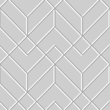Vliesbehang Losanges filaires Zilver (106155)