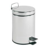 Pedaalemmer 5 liter mat RVS