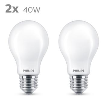Philips LED peer E27 40W 2 stuks mat niet dimbaar