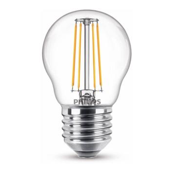 Philips LED kogel E27 40W filament helder niet dimbaar