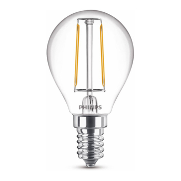 Philips LED kogel E14 25W filament helder niet dimbaar