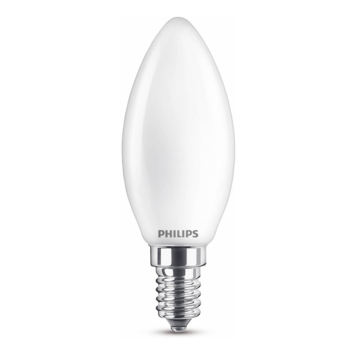 Philips LED kaars E14 40W mat niet dimbaar