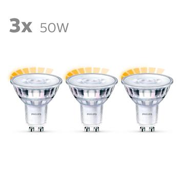 Philips LED spot 50W 3 stuks warmglow dimbaar