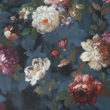 Vliesbehang Isabelle donkerblauw (108623)