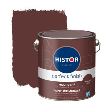 Histor Perfect Finish muurverf mat Burgundy Wine 2,5 liter