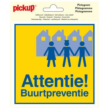 Pickup Pictogram Vinyl 15x15cm Attentie Buurtpreventie