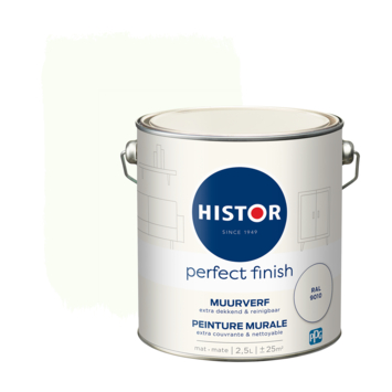 Histor Perfect Finish muurverf mat Ral 9010 2,5 liter