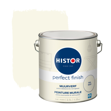 Histor Perfect Finish muurverf mat Ral 9001 2,5 liter